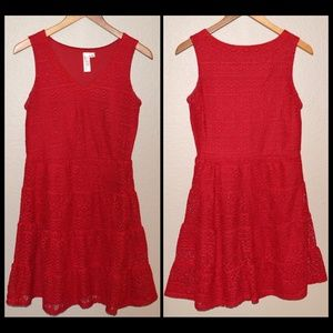 Emma & Michele Red Crocheted Dress